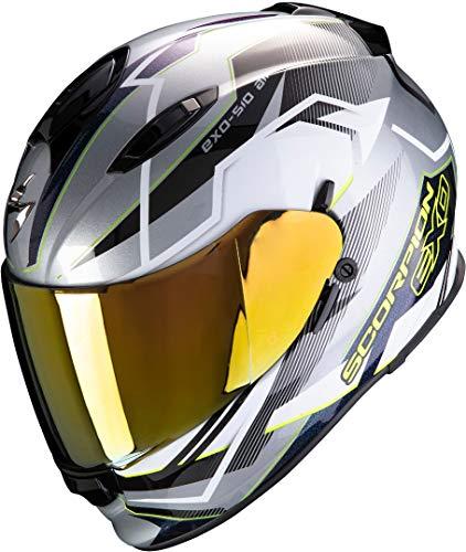 Scorpion Motorradhelm EXO-510 AIR BALT Silver-White-Neon Yellow, Grau/Weiss/Gelb, S
