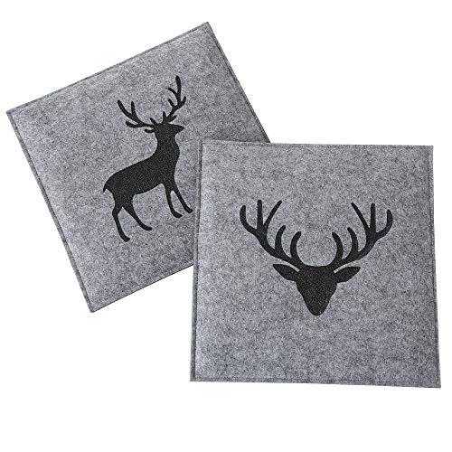 Kissen Tjark, 2 sort., nicht waschbar Polyester, L 35 cm, B 35 cm, Grau Sortierung: 2 sort.; Verpackungsart Inner: Poly-Beutel geschlossen; Grundmater