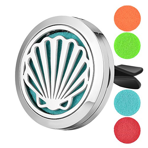 Garden Charms Aromatherapy Car Air Freshener 'Dolphin' Design Stainless Steel Locket Best Essential Oil Diffuser For Men & Women (Shell)