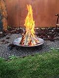 Panarotto Design Feuerschale Durchmesser 500 mm, Grillschale, Feuerschale, Schwenkgrill, Planzschale, Wok, Grill, Feuerkorb
