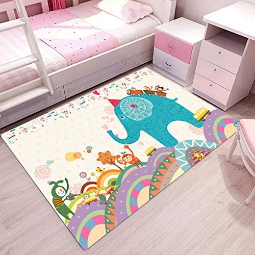 HYRL Babyspielmatte - Krabbelteppiche für Baby, Kleinkind, Kinderspielecke, Cartoon-Teppichbodenmatte Geeignet für Schlafzimmer-Spielzimmer-Spielmatte