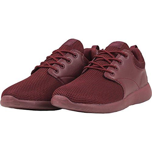 Urban Classics Damen und Herren Light Runner Shoe, Low-Top Sneaker für Damen und Herren, Sportschuhe mit Schnürung, Burgundy, Größe 41