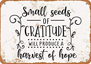 UUND Small Seeds of Gratitude Harvest of Hope Wall Plaque Sign 8X12 Inch