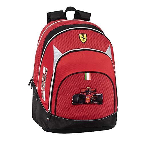 Panini spa Zaino Scuola Ferrari Rotondo Organizzato 40x32x20 cm Prodotto Ufficiale