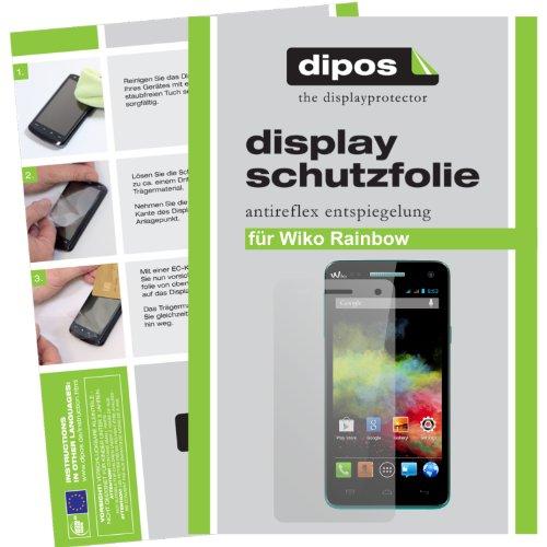 dipos I 2X Schutzfolie matt kompatibel mit Wiko Rainbow Folie Bildschirmschutzfolie