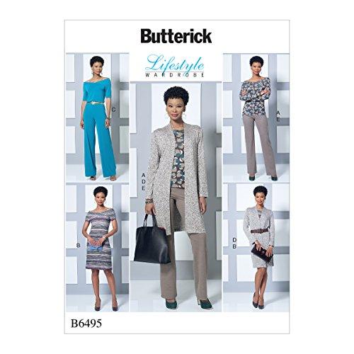 Butterick Patterns MCCALL 's Patterns 6495ZZ de Costura para Top/Vestido/Mono/Chaqueta y Pantalones...