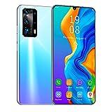LINGOSHUN Teléfono Móvil P40 Pro+,Batería de 2500 MAh,1 GB de RAM Y 16 GB de Almacenamiento,Smartphone Ampliable de 128G, 2MP + 5MP / B / 7.12 Inches