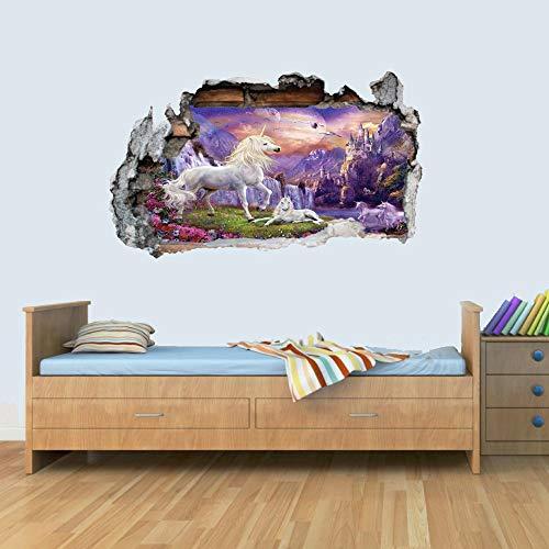 GNG Unicorn Unicorn Smashed Wandtattoo Poster 3D Kunst Aufkleber Vinyl Zimmer L