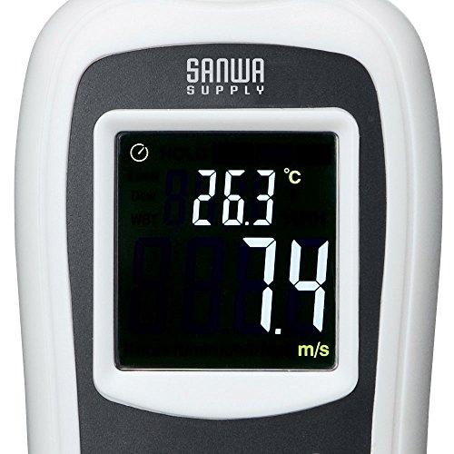 サンワサプライデジタル風速計(風速・温度計測可能)小型CHE-WD1