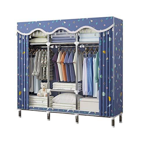Rollsnownow Kleiderschrank, Kleiderstange mit Metallrahmen und Abdeckung, metall, 170x46x170cm