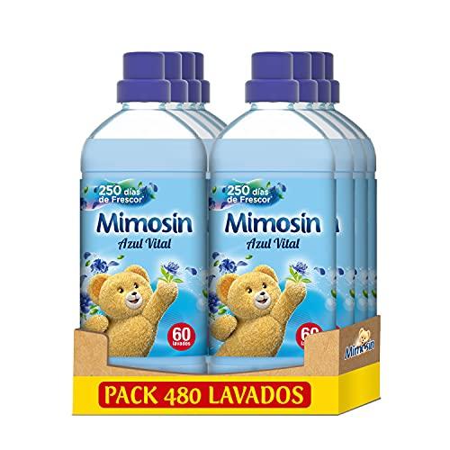Mimosín Suavizante Concentrado Azul Vital 60 lavados, paquete de 8