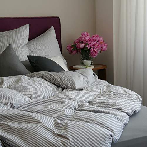 DORIS MEYER Interlock-Jersey Bettwäsche Tom Kiesel 1 Bettbezug 135 x 200 cm + 1 Kissenbezug 80 x 80 cm