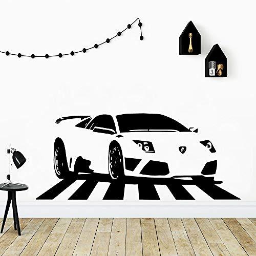 Coche de lujo coche deportivo pegatinas de pared decoración de dormitorio de niño decoración de habitación de niños pegatinas de pared pegatinas de decoración carteles murales
