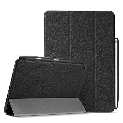 ProCase iPad 9.7 ケース 超薄型 軽量 スリム フォリオケース 保護ケース スマートカバー iPad 9.7 2018 iPad 第六世代 / 2017 iPad 第五世代 専用 Apple Pencil ホルダー付き –ブラック