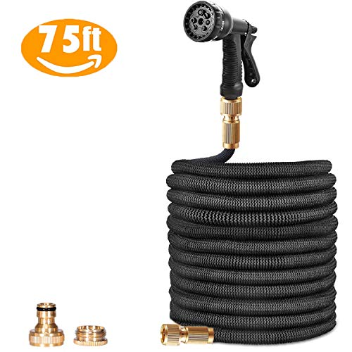 100FT Expanding Garden Hosepipe - Polyester Fabric Outer Layer Expands...