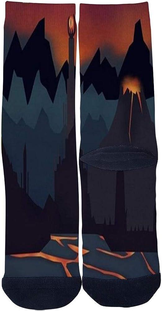 Customized Shadow Land Castle scene Socks Mens Womens Socks Unique Casual Crew Socks