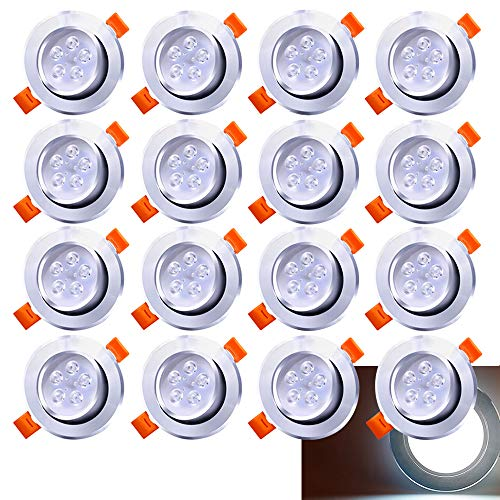 Hengda 20 Pack 5W LED Einbaustrahler Schwenkbar Kaltweiß Einbauleuchte 420lm 6500K Deckenstrahler Wohnzimmer Deckenspots Schlafzimmer Deckenleuchte