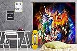 AJ WALLPAPER 3D Curtain for Pokemon Pikachu 191 Japan Anime Blockout Foto Vorhang Druck Vorhänge Tuch Vorhang Stoff Fenster|3D Groß Foto Vorhang DE Wendy...