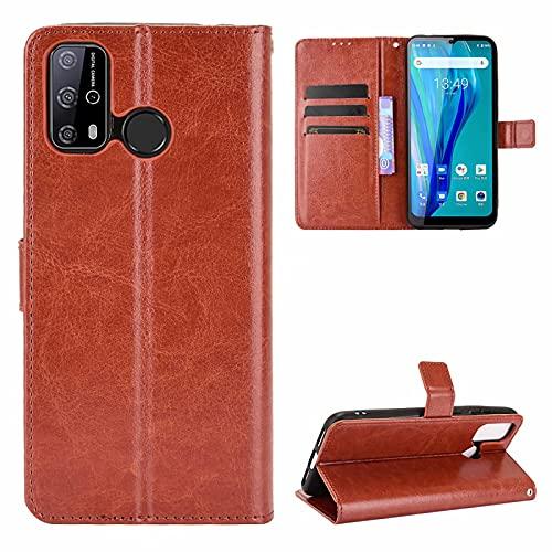 SOUFU för Oukitel C23 Pro,TPU premium läder plånbok Design med kortplats,Ansöka till för Oukitel C23 Pro fodral-brun