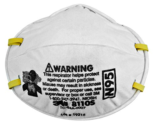 3M Particulate Respirator 8110S, N95 160 EA/Case
