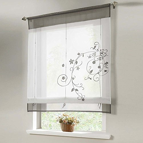Tragbare Pflanzen, die Küche, Badezimmer, Balkon Fenster Vorhang liftable Roman Blind Vorhang (100cm x 140cm)