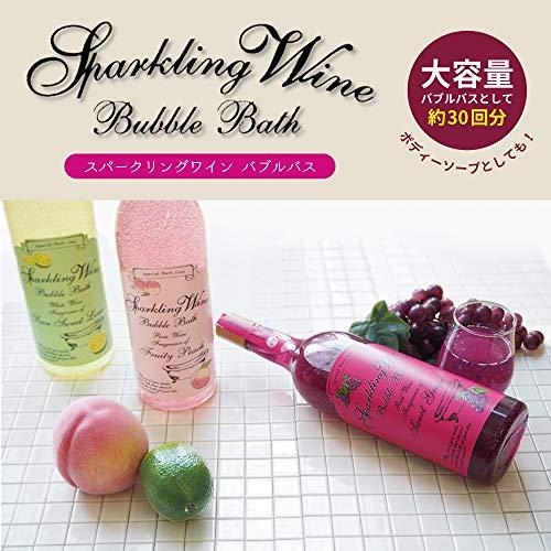 ノルコーポレーション入浴剤バブルバススパークリングワイン大容量810mlグレープの香りOB-WIB-3-1