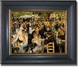 Artistic Home Gallery Moulin de la Galette by Auguste Renoir Premium Black & Gold Framed Canvas (Ready-to-Hang)