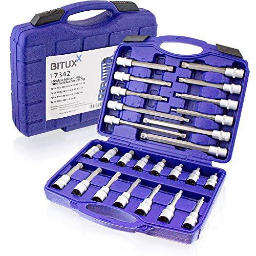 BITUXX 26 tlg Innen Vielzahn Steckschlüssel Werkzeug Set Stecknuss Nuss Satz