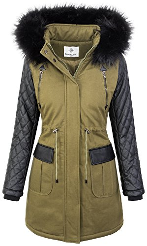 Rock Creek dames winter jas parka outdoorjas winterjas D-348