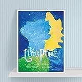 wtnhz Sin Marco The Little Prince Canvas Art Print and Poster, Nordic Cartoon The Little Prince Canvas Painting Wall Pictures Decoración de la habitación de los niños