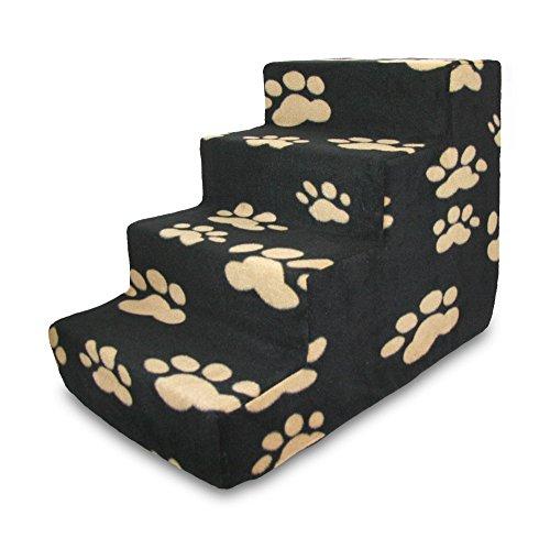Best Pet Supplies ST210T-M Foam Pet Stairs/Steps, 4-Step, Black