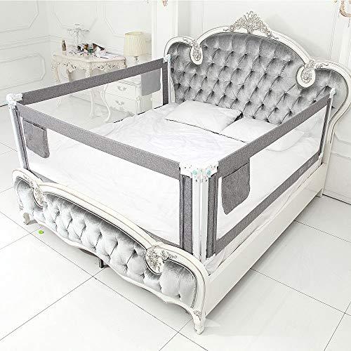 Bed Wacht, Beveiliging Voor Baby's Kinderen Hekken Hek Voor Verticale Tillen Bescherming Falen Grid Voor Alle Matrassen Massief Houten Bedden,Gray,1.2m