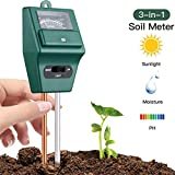 Naitik Creation 3 In 1 Soil Testers 3-in-1 Water Moisture Hydroponic Solar Care Plants Soil Sensor Ph Meter for Soil Testing Digital PH Acidity, Moisture Machine, Sunlight Intensity, Home Indoor Outdoor Garden Farm Lawn Plant Flower