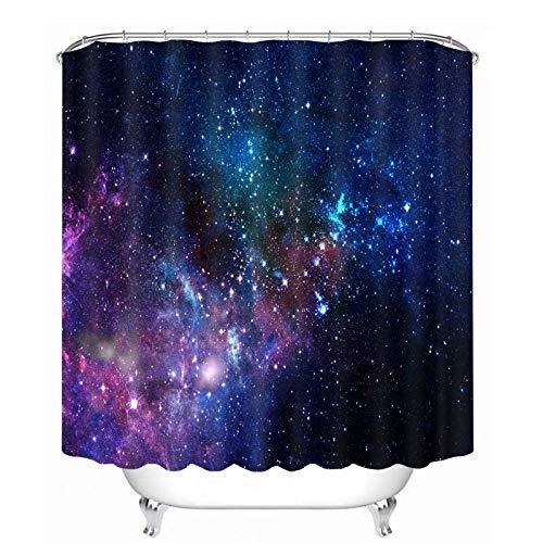 Nobrand douchegordijnen 7 Big Planet Space System patroon waterdichte stoffen badkamerproducten gordijnen wasbare badgordijnen