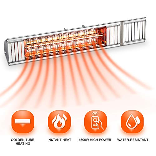 Save %63 Now! Outdoor Patio Heater, Electric Garage Heater, Home Space Heater, Wall Mounted Infrared...