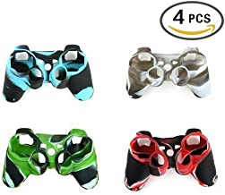 UUShop 4 Pcs of Silicon Protective Skin Case Cover for Sony Playstation 3 PS3 Remote Controller