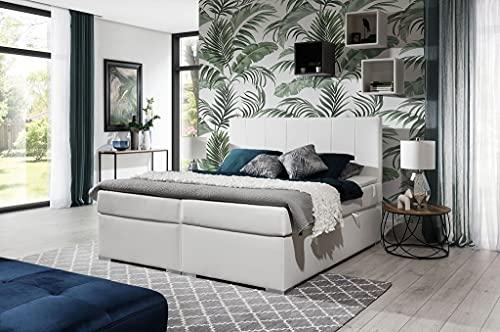 A-dekor home Cama con somier Paris para hotel, cama continental, 140/160/180 x 200 cm, gris, negro,...