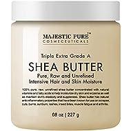 Majestic Pure Shea Butter, Natural Skin Care, Virgin Cold-Pressed Raw Unrefined Premium Grade from Ghana - 8 oz