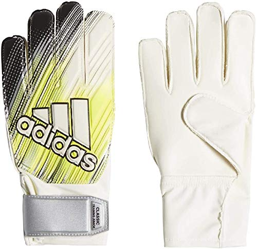 adidas Kinder Classic TRN J Soccer Gloves, Black/Solar Yellow/White, 5.5