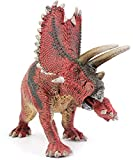 Gemini&Genius 7.5 Inches Red Stand Up Pentaceratops Jurassic World Park Dinosaurs Figurine Early Science Education and Collection Dino World Action Figure Toys