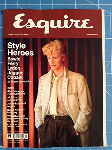 Esquire Magazine January/ February 2016 (David Bowie Cover) Style Heroes
