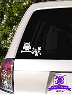 Overly Attached Decals Owl on Tree Branch Vinyl Car Decal - 8