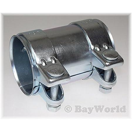 Bayworld Auspuff Universal Rohrverbinder 76x80 5x125mm Doppelschelle 76x125mm Auto
