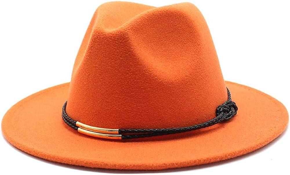Women's and Max 45% OFF Men's Fedora Hat Classic Brim Wide Wo Columbus Mall Elegant Panama