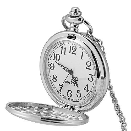 Alinory 3Colors Clásico Cuarzo Analógico Reloj de Bolsillo Liso Coll