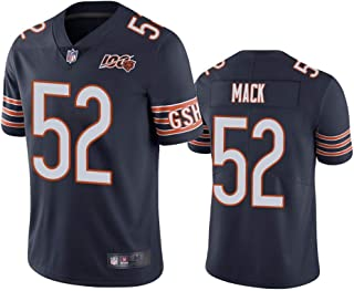 Men's Chicago Bears #52 Khalil Mack Navy 100th Season Limited Jersey