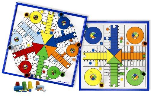 Aquamarine Games - Parchís para 4 y 6 Jugadores, Juego de Mesa (Compudid CPES02)