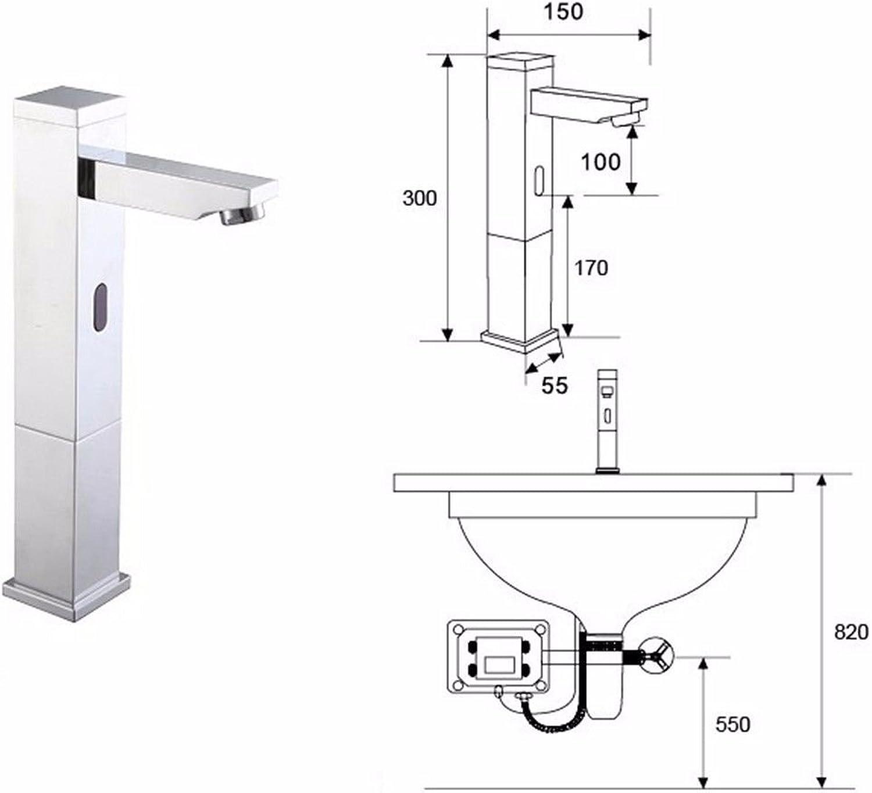 S.TWL.E Küche Küchenarmatur Waschtischarmatur Mischbatterie Spülbecken Armatur Wasserhahn Bad Sensing Hahn C