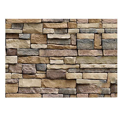 Pegatinas de pared 3D Efecto de piedra autoadhesivo Extraíble Decoración de pared moderna Fondo simulación de pared Patrón de piedra de roca Papel tapiz de ladrillo Decoración de restaurante Etiqueta