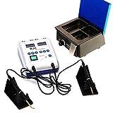 Dental - Espátula eléctrica de cera dental, con 2 lápices y 6 puntas y calentador de cera dental, 3 cajas